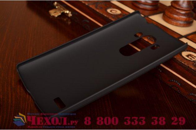 Фирменная задняя панель-крышка-накладка из тончайшего и прочного пластика для LG G4 Beat / G4s черная