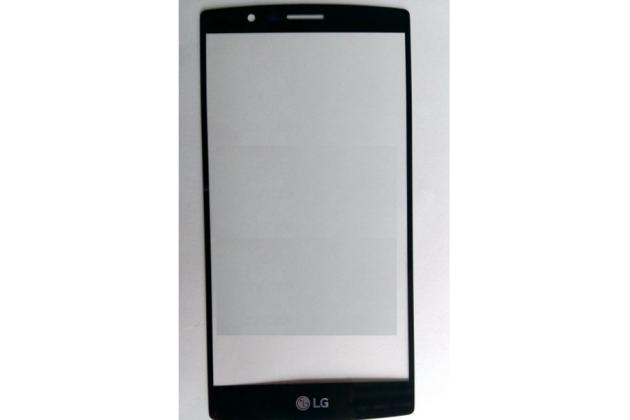 Фирменное защитное противоударное стекло которое полностью закрывает экран из качественного японского материала с олеофобным покрытием для телефона LG G4 H815 / H818 с защитой сенсорных кнопок и камеры черное