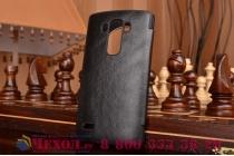 Фирменный оригинальный чехол-кейс из импортной кожи Quick Circle для LG G4 Beat / G4s с умным окном черный