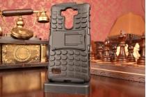 Противоударный усиленный ударопрочный фирменный чехол-бампер-пенал для LG G4 Beat / G4s H734 /H736 черный