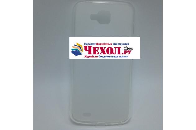 Фирменная ультра-тонкая полимерная из мягкого качественного силикона задняя панель-чехол-накладка для LG X Venture M710DS / V9 белая