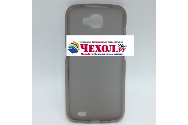 Фирменная ультра-тонкая полимерная из мягкого качественного силикона задняя панель-чехол-накладка для LG X Venture M710DS / V9 серая