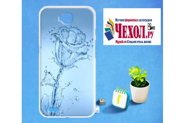 Фирменная роскошная задняя панель-чехол-накладка  из мягкого силикона с безумно красивым расписным 3D рисунком Водяная роза на LG X Venture M710DS / V9