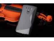 Фирменная ультра-тонкая полимерная из мягкого качественного силикона задняя панель-чехол-накладка для LG G Fle..