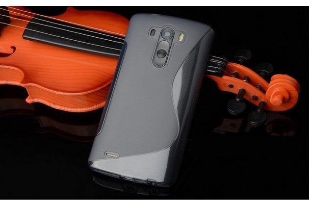 Фирменная ультра-тонкая полимерная из мягкого качественного силикона задняя панель-чехол-накладка для LG G Flex 2 (H959) серая