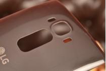 """Родная оригинальная задняя крышка-панель которая шла в комплекте для LG G Flex 2 (H959) 5.5"""" серая"""