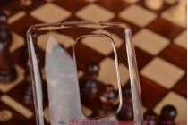Фирменная задняя панель-крышка-накладка из тончайшего и прочного пластика для LG G Flex 2 (H959) прозрачная