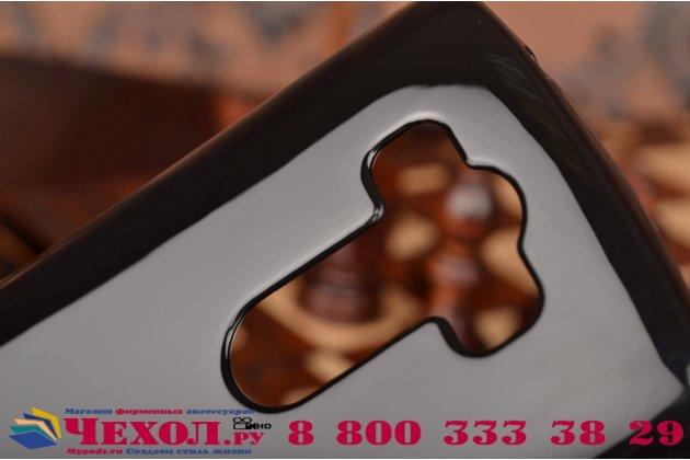 """Фирменная ультра-тонкая полимерная из мягкого качественного силикона задняя панель-чехол-накладка для LG G3 /G3 Dual LTE D855/D856/D858/F400/F460/D830/VS985 5.46""""  черная"""