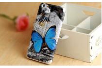 """Фирменный уникальный необычный чехол-книжка для LG G4c H525N  """"тематика влюбленные Бабочка"""""""