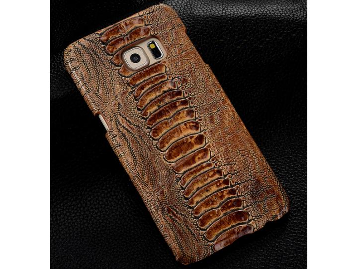 Фирменная неповторимая экзотическая панель-крышка обтянутая кожей крокодила с фактурным тиснением для  LG G4 S..