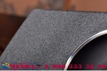 Фирменный оригинальный чехол-книжка для LG G4c H525N черный  кожаный с окошком для входящих вызовов