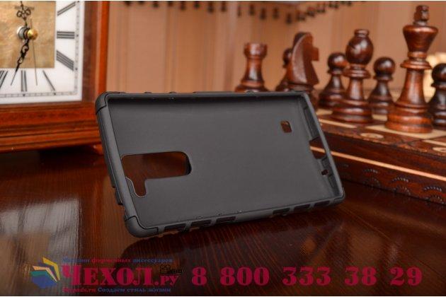 Противоударный усиленный ударопрочный фирменный чехол-бампер-пенал для LG G4c H525N черный