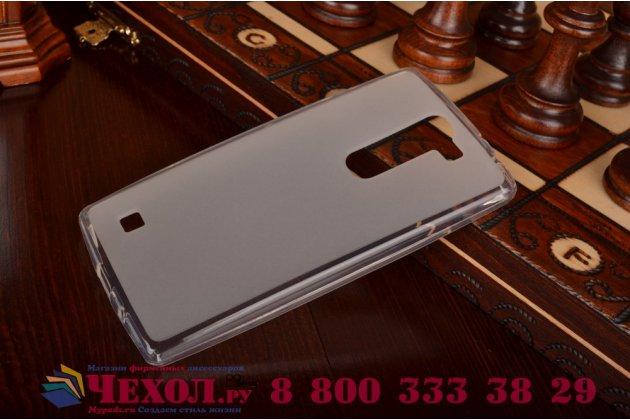 Фирменная ультра-тонкая полимерная из мягкого качественного силикона задняя панель-чехол-накладка для  LG G4c H525N белая