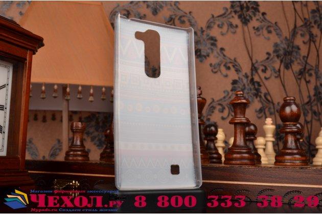 Фирменная роскошная задняя панель-чехол-накладка с безумно красивым расписным эклектичным узором на LG G4c / LG Magna