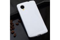 Фирменная ультра-тонкая полимерная из мягкого качественного силикона задняя панель-чехол-накладка для  LG Google Nexus 5 D821 белая