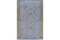 Фирменная роскошная задняя панель-чехол-накладка с расписным узором для LG Google Nexus 5 D821  прозрачная белая