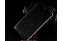 Фирменный чехол-книжка из качественной водоотталкивающей импортной кожи на жёсткой металлической основе для LG Google Nexus 5 D821 черный