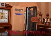 Фирменный чехол-книжка из качественной импортной кожи с мульти-подставкой застёжкой и визитницей для LG Spirit..