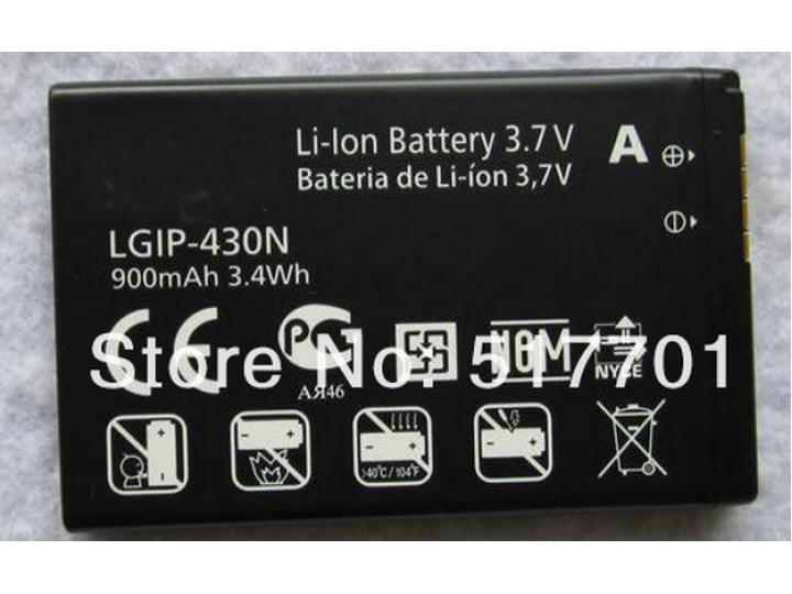 Фирменная аккумуляторная батарея 900mah LGIP-430N на телефон LG GS290 / T310 / T320 / T300 / TB260 / TM300+ га..