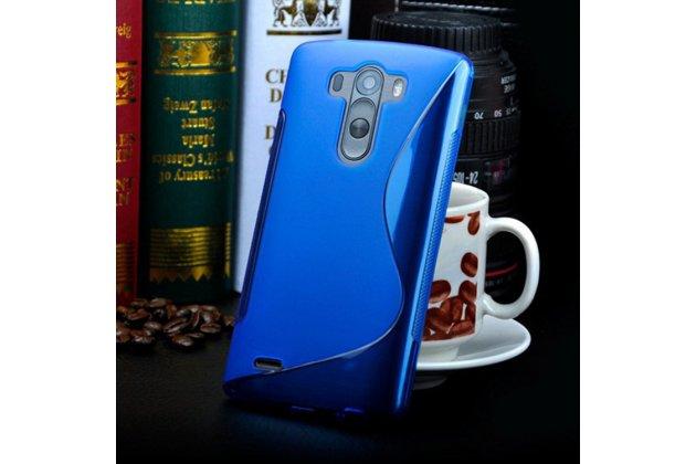 Фирменная ультра-тонкая полимерная из мягкого качественного силикона задняя панель-чехол-накладка для LG G3 s Mini D724/D722 синяя
