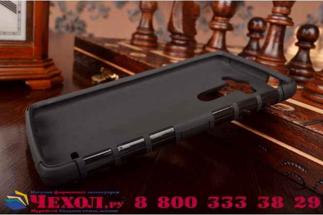 Противоударный усиленный ударопрочный фирменный чехол-бампер-пенал для LG G3 s Mini D724/D722 черный