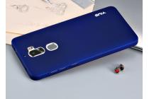Задняя панель-крышка из прочного пластика с матовым противоскользящим покрытием и удобным держателем для LeEco Cool1  в синем цвете