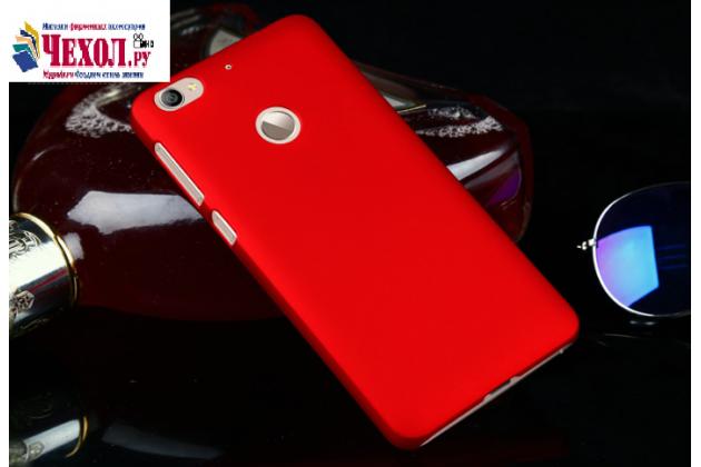 Фирменная задняя панель-крышка-накладка из тончайшего и прочного пластика для LeEco (LeTV) Le 1S красная