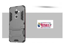 """Противоударный усиленный ударопрочный фирменный чехол-бампер-пенал для LeEco (LeTV) Le 2 X620"""" серый"""