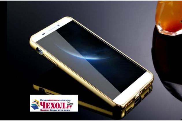 """Фирменная металлическая задняя панель-крышка-накладка из тончайшего облегченного авиационного алюминия для LeEco (LeTV) One PRO X800 4/32Gb""""  золотая"""