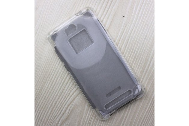 Фирменная ультра-тонкая полимерная из мягкого качественного силикона задняя панель-чехол-накладка для Leagoo Alfa 2 прозрачная