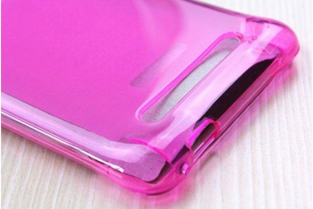 Фирменная ультра-тонкая полимерная из мягкого качественного силикона задняя панель-чехол-накладка для Leagoo Alfa 2 розовый