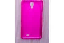 Фирменная ультра-тонкая полимерная из мягкого качественного силикона задняя панель-чехол-накладка для Leagoo Alfa 4 розовая