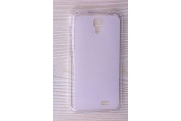 Фирменная ультра-тонкая полимерная из мягкого качественного силикона задняя панель-чехол-накладка для Leagoo Alfa 4 белая