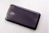 Фирменная ультра-тонкая полимерная из мягкого качественного силикона задняя панель-чехол-накладка для Leagoo Alfa 4 черная