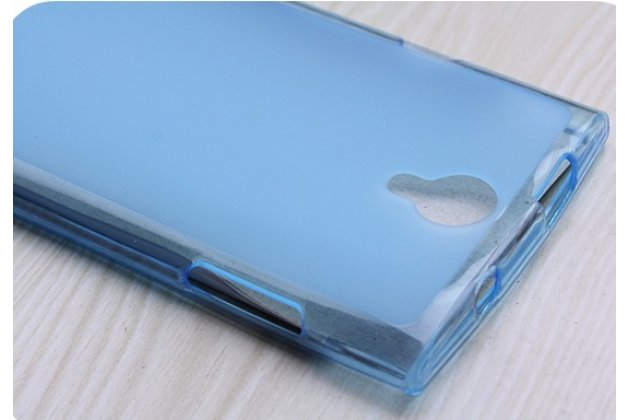 Фирменная ультра-тонкая полимерная из мягкого качественного силикона задняя панель-чехол-накладка для Leagoo Alfa 5 голубая