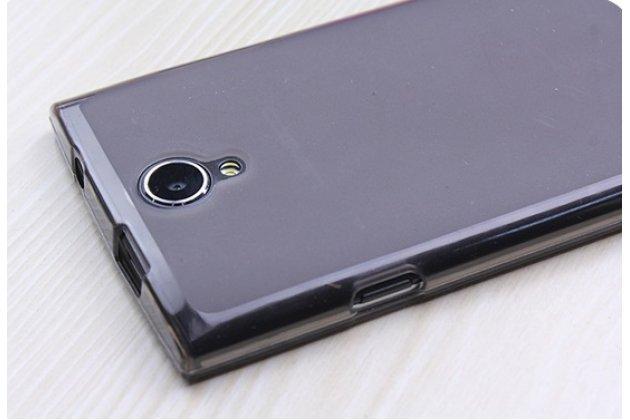 Фирменная ультра-тонкая полимерная из мягкого качественного силикона задняя панель-чехол-накладка для Leagoo Alfa 5 черная