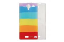 """Фирменная ультра-тонкая полимерная из мягкого качественного силикона задняя панель-чехол-накладка для Leagoo Alfa 5  тематика """"все цвета радуги"""""""