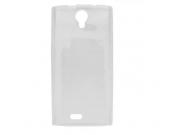 Фирменная ультра-тонкая полимерная из мягкого качественного силикона задняя панель-чехол-накладка для Leagoo A..