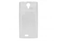 Фирменная ультра-тонкая полимерная из мягкого качественного силикона задняя панель-чехол-накладка для Leagoo Alfa 5 белая