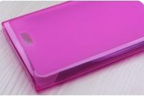 Фирменная ультра-тонкая полимерная из мягкого качественного силикона задняя панель-чехол-накладка для Leagoo Alfa 5 розовая
