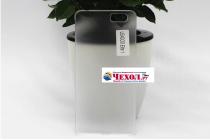 Фирменная задняя панель-крышка-накладка из тончайшего и прочного пластика для Leagoo Elite 1 белая