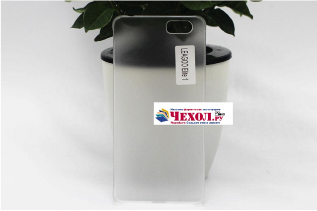 Фирменная задняя панель-крышка-накладка из тончайшего и прочного силикона для Leagoo Elite 1 белая