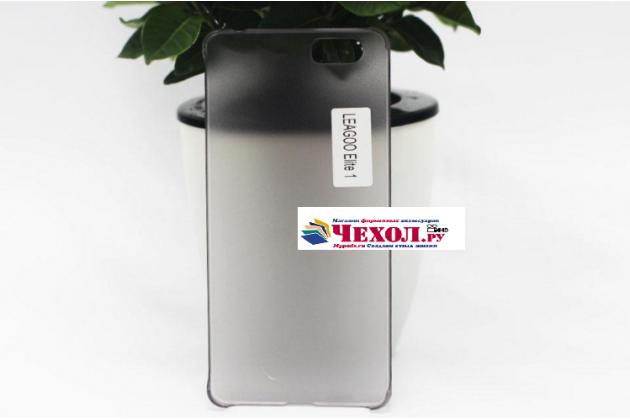 Фирменная задняя панель-крышка-накладка из тончайшего и прочного пластика для Leagoo Elite 1 черная