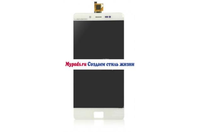 Фирменный сенсорный экран-стекло с тачскрином на телефон Leagoo Elite 1 белый