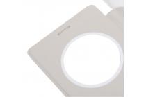 Фирменный чехол-книжка для Leagoo Elite 2 белый с окошком для входящих вызовов водоотталкивающий