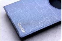 Фирменный чехол-книжка для Leagoo Elite 3 черный с окошком для входящих вызовов водоотталкивающий