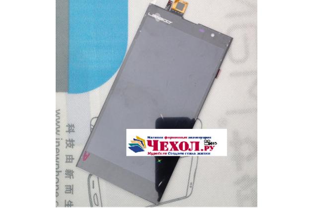 Фирменный LCD-ЖК-сенсорный дисплей-экран-стекло с тачскрином на телефон Leagoo Elite 3 черный