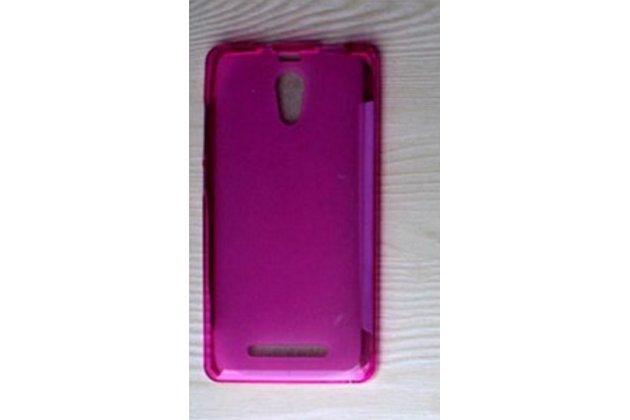 Фирменная ультра-тонкая полимерная из мягкого качественного силикона задняя панель-чехол-накладка для Leagoo Elite 4 розовая