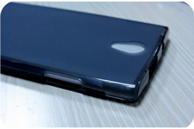 Фирменная ультра-тонкая полимерная из мягкого качественного силикона задняя панель-чехол-накладка для Leagoo Elite 5 черная