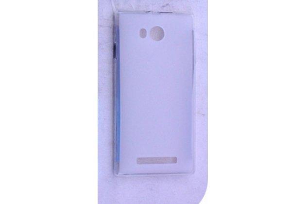 Фирменная ультра-тонкая полимерная из мягкого качественного силикона задняя панель-чехол-накладка для Leagoo Lead 5 белая